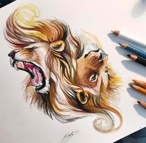 gambar keren kreatif dan menarik dengan menggunakan pensil warna-3