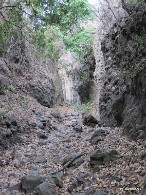 Paso La Angostura, en la barranca del Tecuán