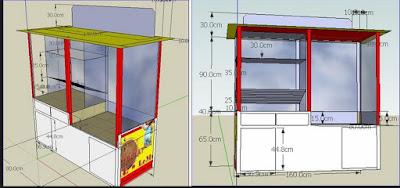 model gerobak gorengan sederhana