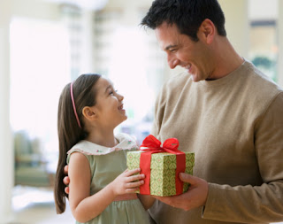 The reason Dad do not give gifts to daughter