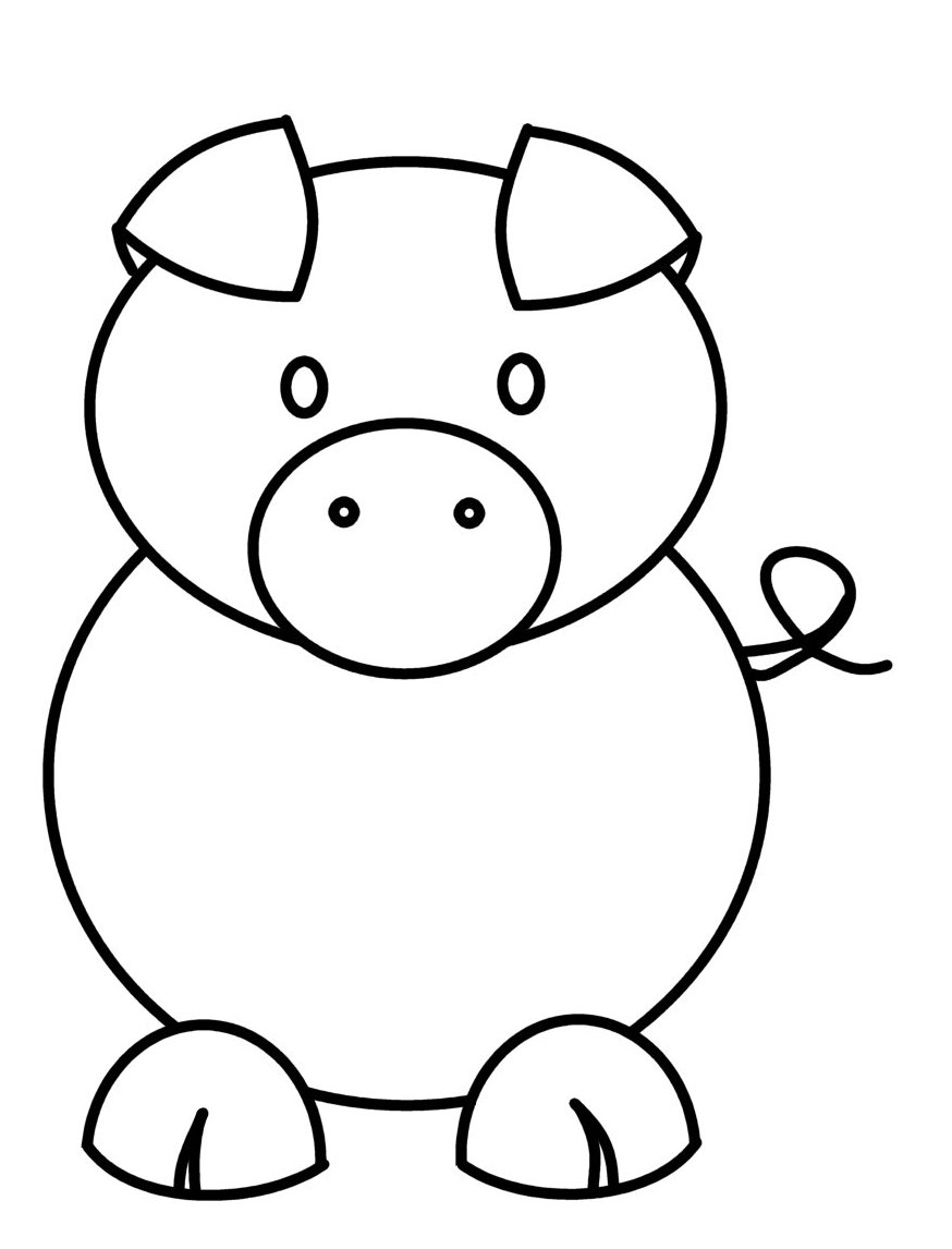 It's just a picture of Stupendous Easy Pig Drawing