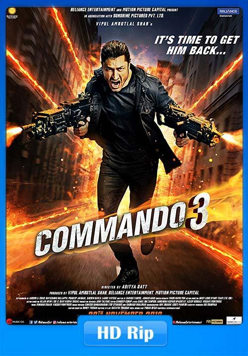 Commando 3 2019 Hindi 720p HDRip ESubs x264   480p 300MB   100MB HEVC