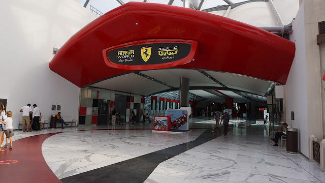 Ferrari world entrance Abu Dhabi