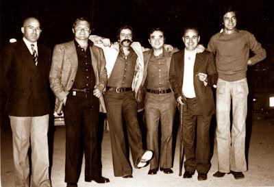 Isidre Grau con algunos de sus compañeros del Sabadell