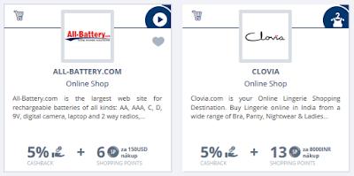 Lyoness nákupní výhody indických e-shopů - příklad