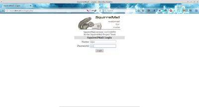 Lalu buka diweb browser ketikkan url mail.sibro.id lalu login dengan username dan password yang telah dibuat pada artikel sebelumnya