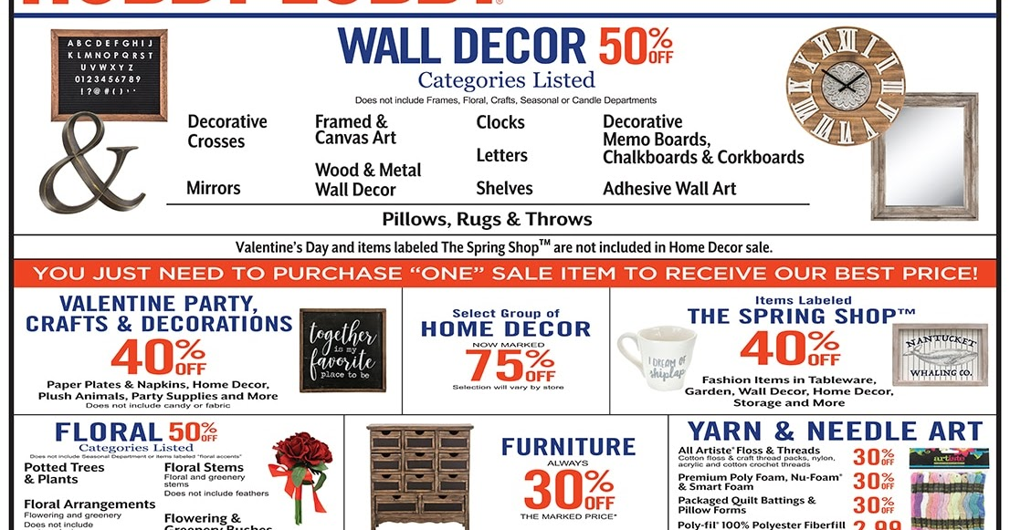 Hobby Lobby Weekly Ad January 13 – 19, 2019 | Grocery Weekly Ads