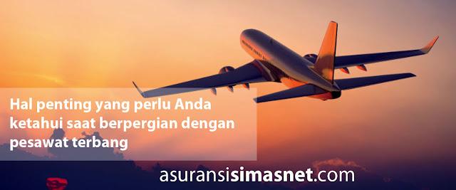 Beberapa Hal Berkaitan Dengan Asuransi Penerbangan