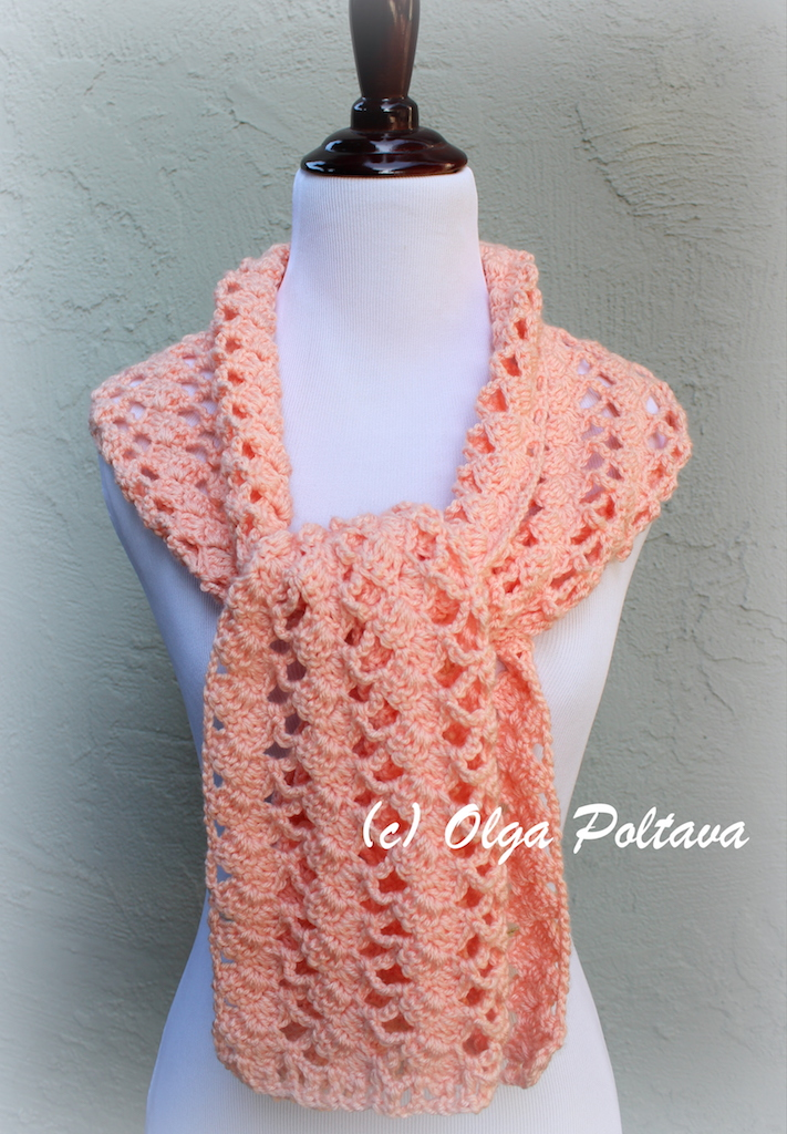 Lacy Crochet Caron Simply Soft Lace Scarf Free Crochet Pattern