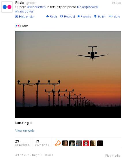 Twitter photo card