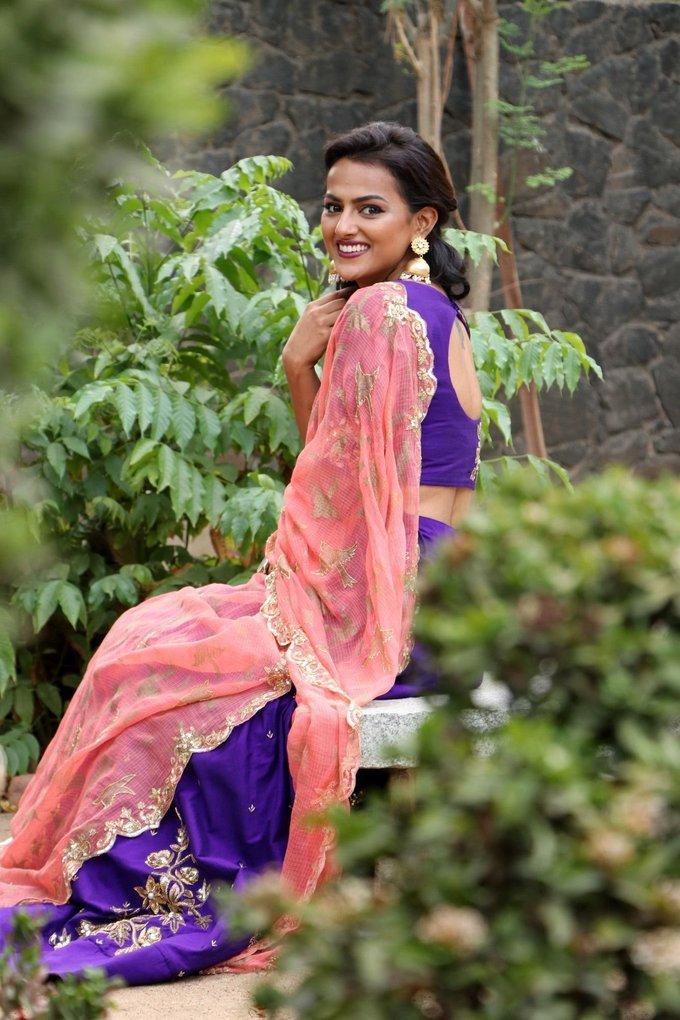 Shraddha Srinath Purple Churidar Spicy Stills