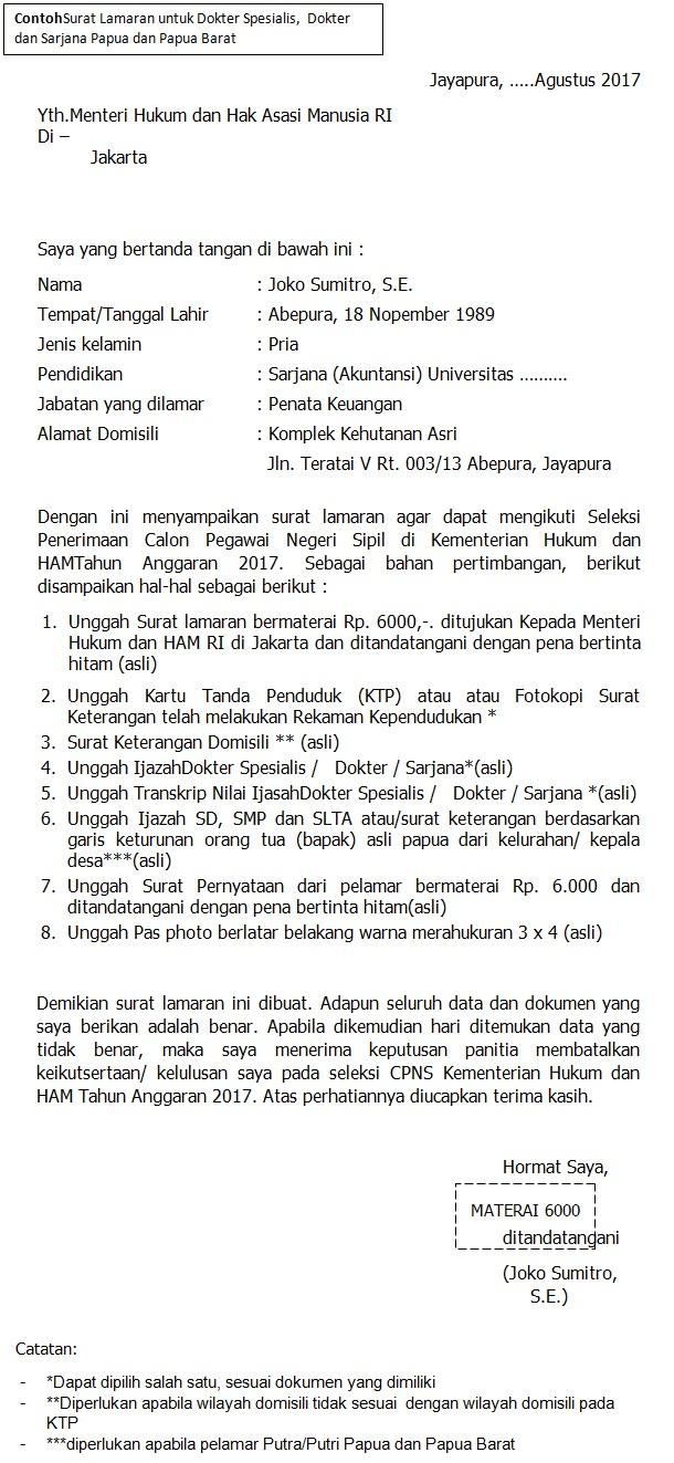 Contoh Surat Lamaran Cpns Kemenristekdikti 2018 Pdf Kumpulan Surat Penting