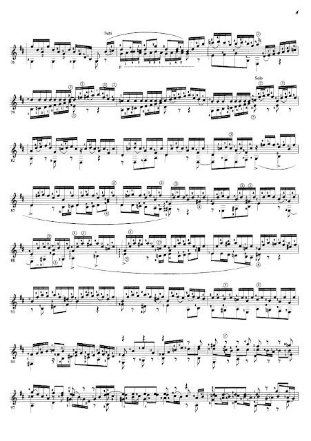 Partitura Guitarra Johann Sebastien Bach