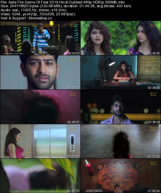 Aata The Game Of Fear 2019 Hindi Dubbed 480p HDRip 300MB