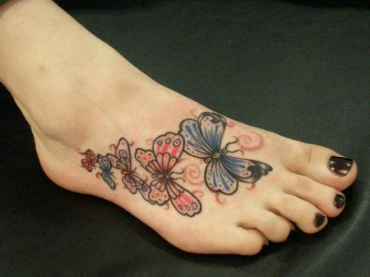 For Guys Fashion Trends 2012 2013 Butterfly Foot Tattoos Designs