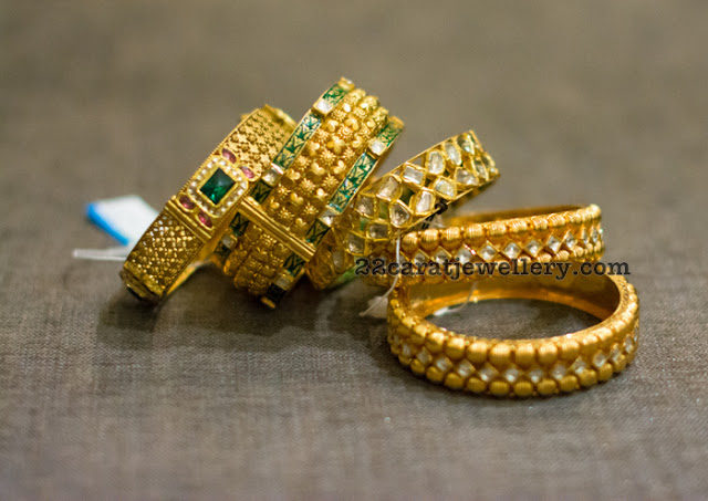 Antique Polki Bangles by Tanishq