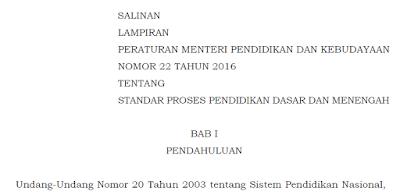 gambar permendikbud nomor 22 tahun 2016