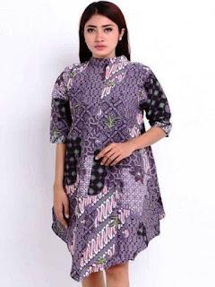 baju batik modern wanita dres