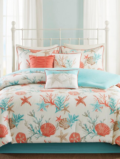 Coastal Ocean Theme Comforter Bedding Sets