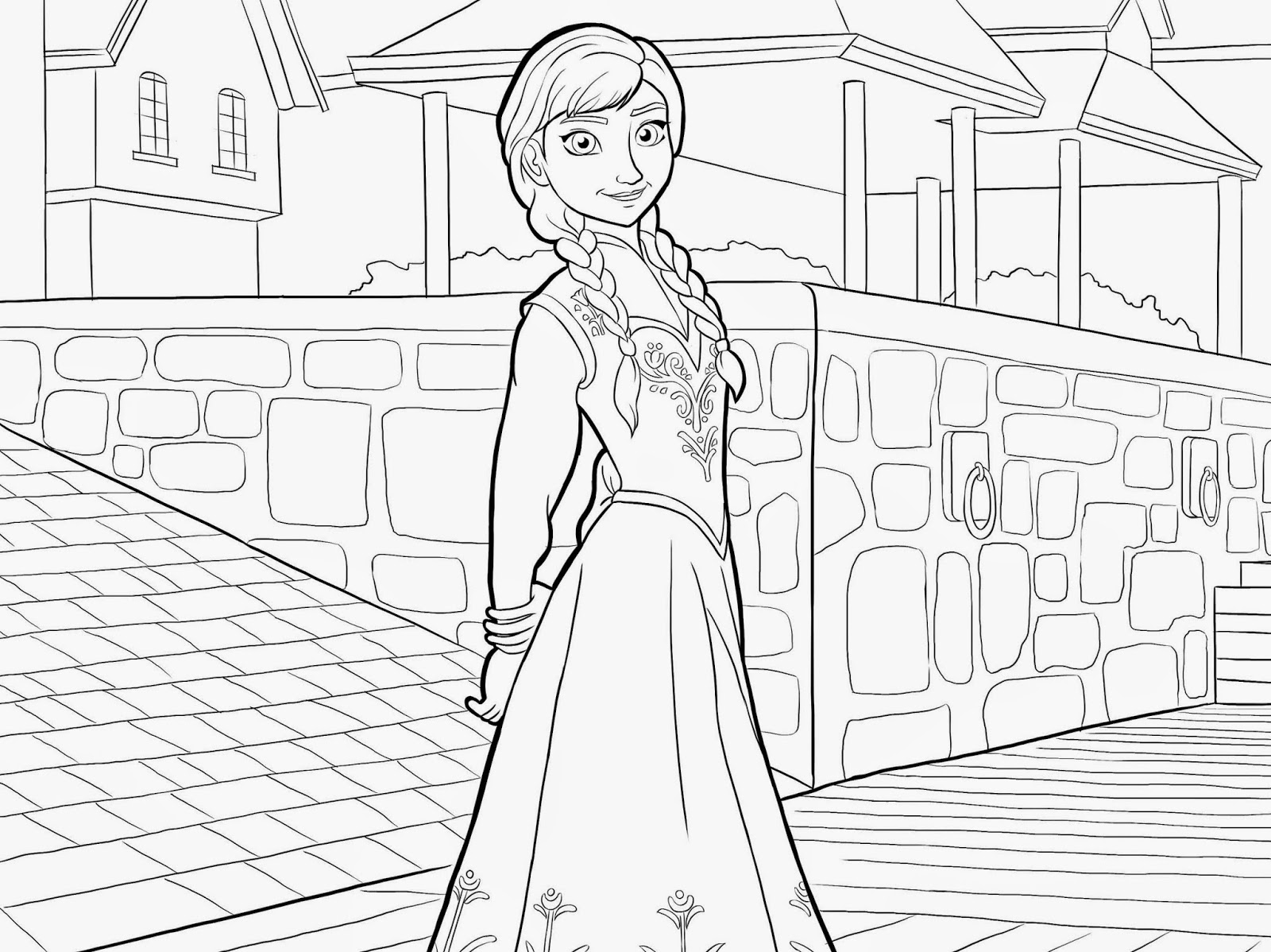 Frozen Elsa Anna Coloring Pages