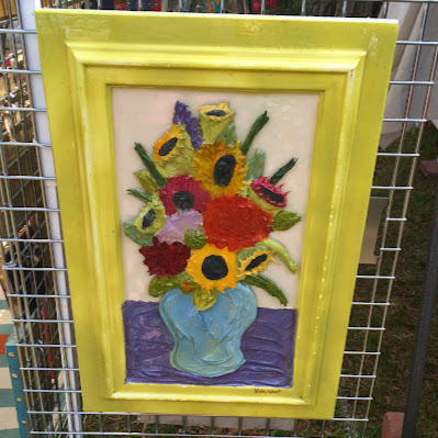Mixed Media Flower Painting - Summerville Flowertown Festival | The Lowcountry Lady