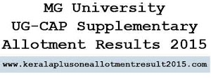 MG University UGCAP Supplementary allotment results 2015 published
