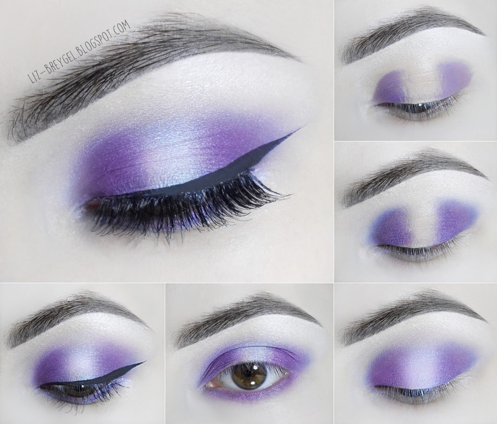 liz breygel how to Amethyst step by step Makeup Tutorial February Birthstone pictures
