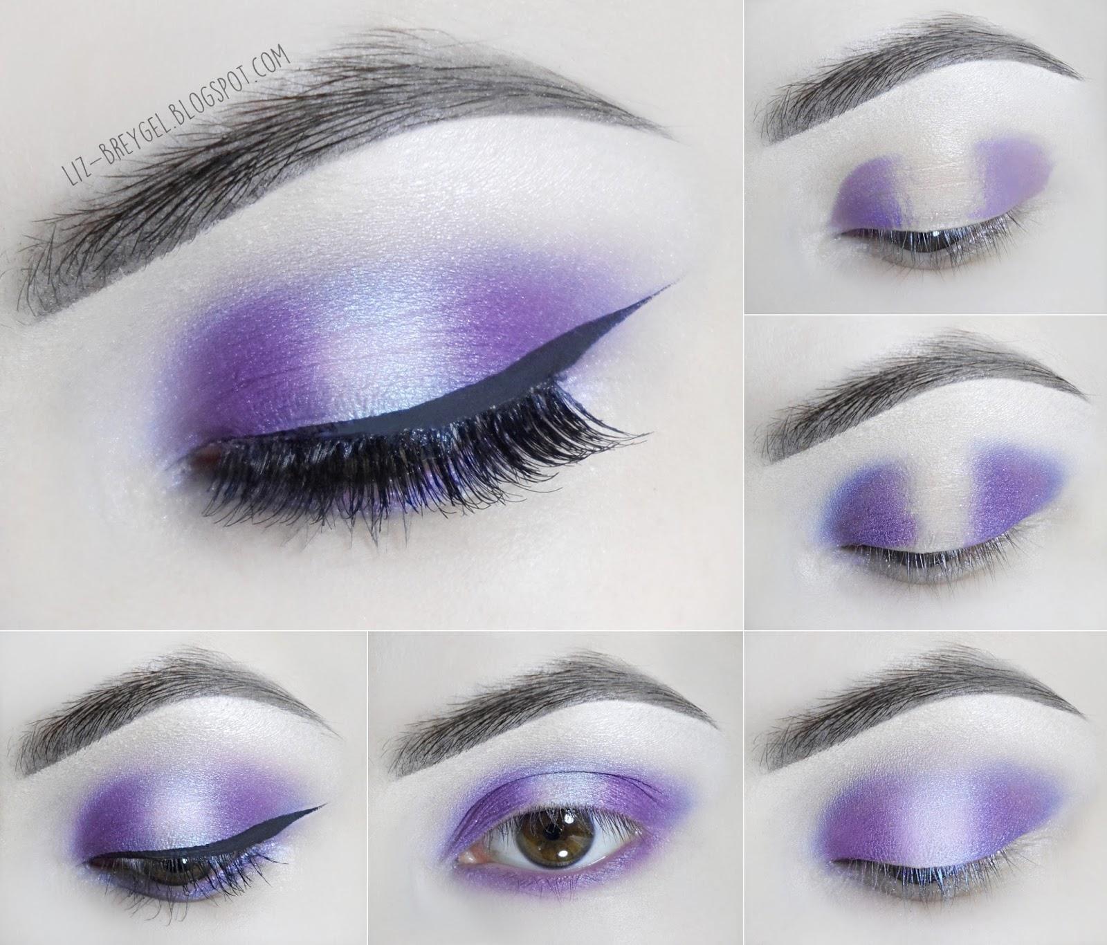 liz breygel how to Amethyst step by step Makeup Tutorial February Birthstone pictures