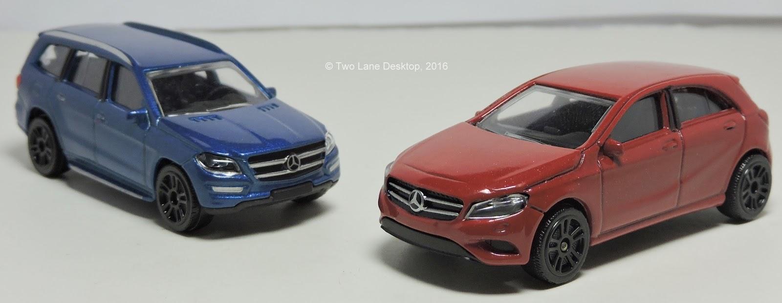 Two Lane Desktop Majorette Mercedes Benz A Class And Gl Suv