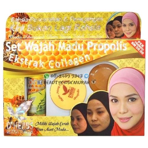 Set Wajah Madu Propolis D'herbs