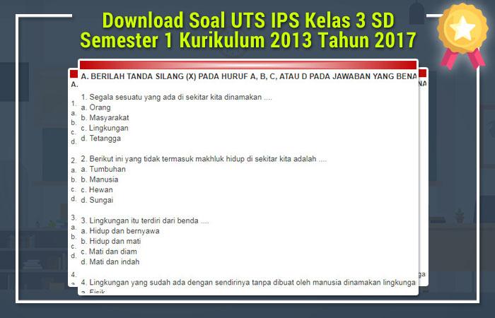 Download Soal UTS Kelas 3 2013