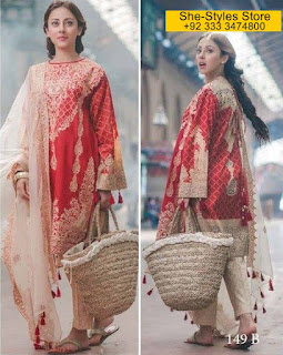 Rang Rasiya Carnation Luxury Eid Lawn Collection 2017-18