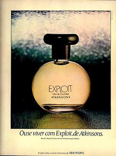 propaganda colonia Exploit de Atkinsons 1977.moda anos 70; propaganda anos 70; história da década de 70; reclames anos 70; brazil in the 70s; Oswaldo Hernandez