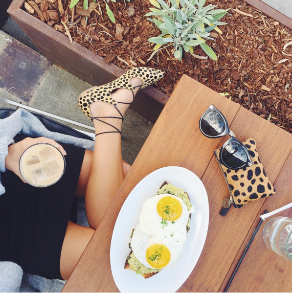 Rose Cafe Venice, Where to eat in Venice, Loeffler Randall Flats