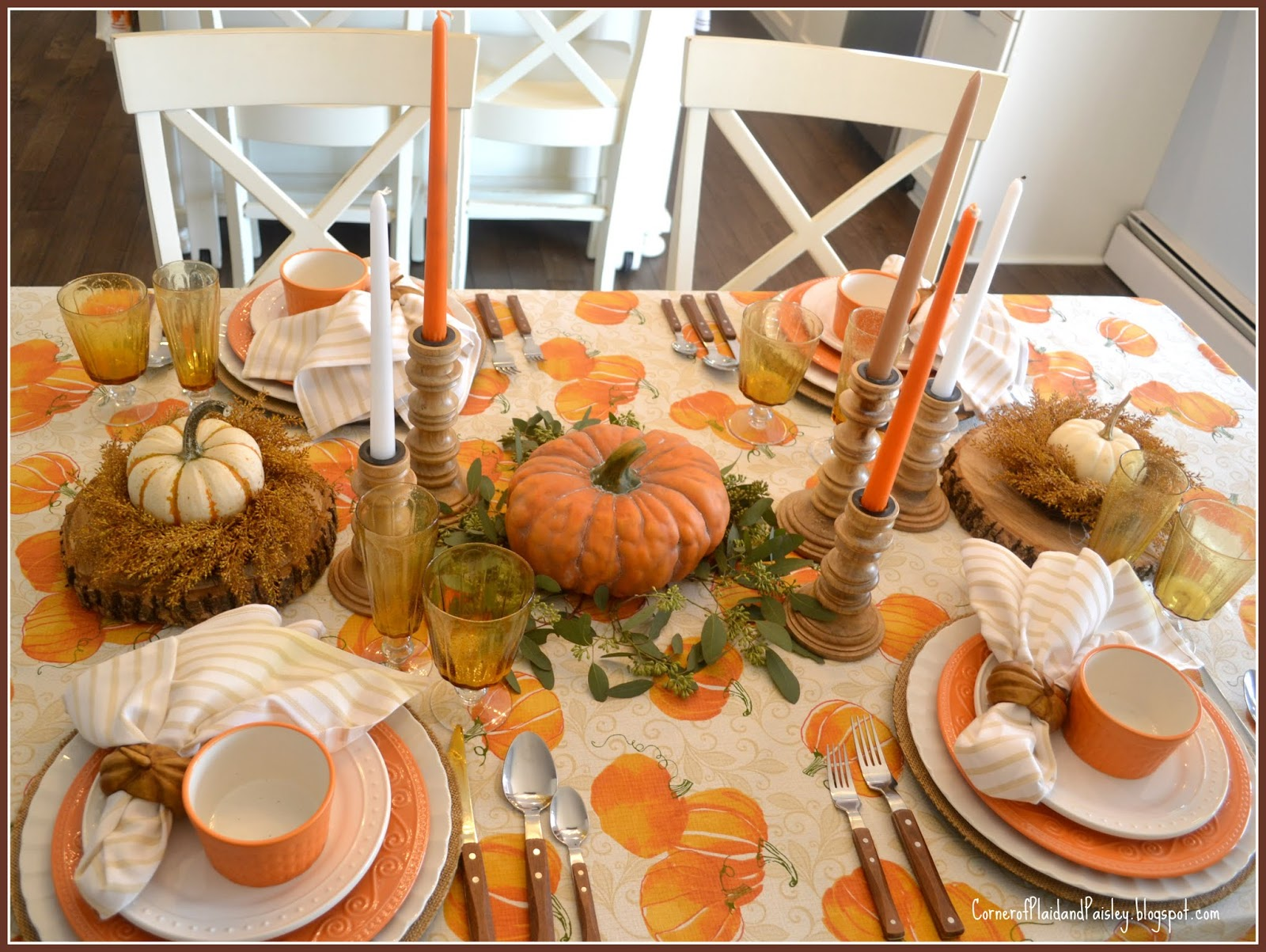 Pin by Pat Stratton on TablescapesAutumn Orange dinner