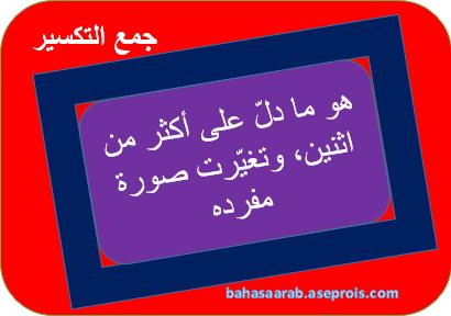 Penjelasan Jama' Taksir | جمع التكسير