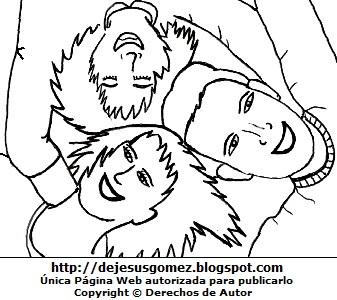 Dibujo de jóvenes abrazados y felices por el Día de la Juventud o Día Internacional de la Juventud, para colorear, pintar e imprimir. Dibujo de la juventud hecho por Jesus Gómez