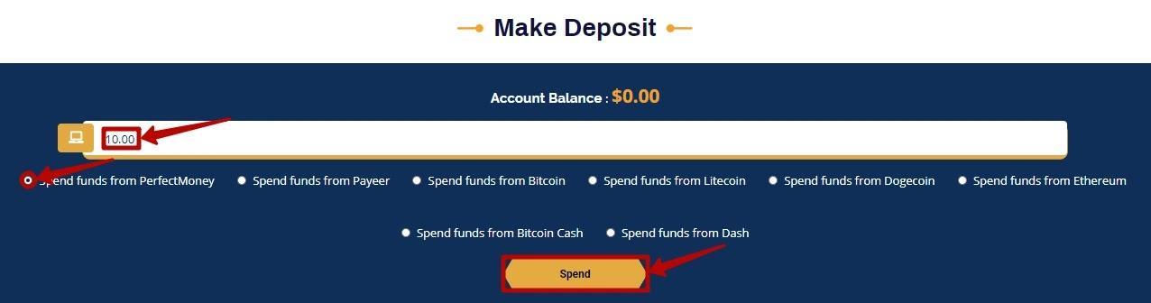 Создание депозита в Bullson-Investment 2