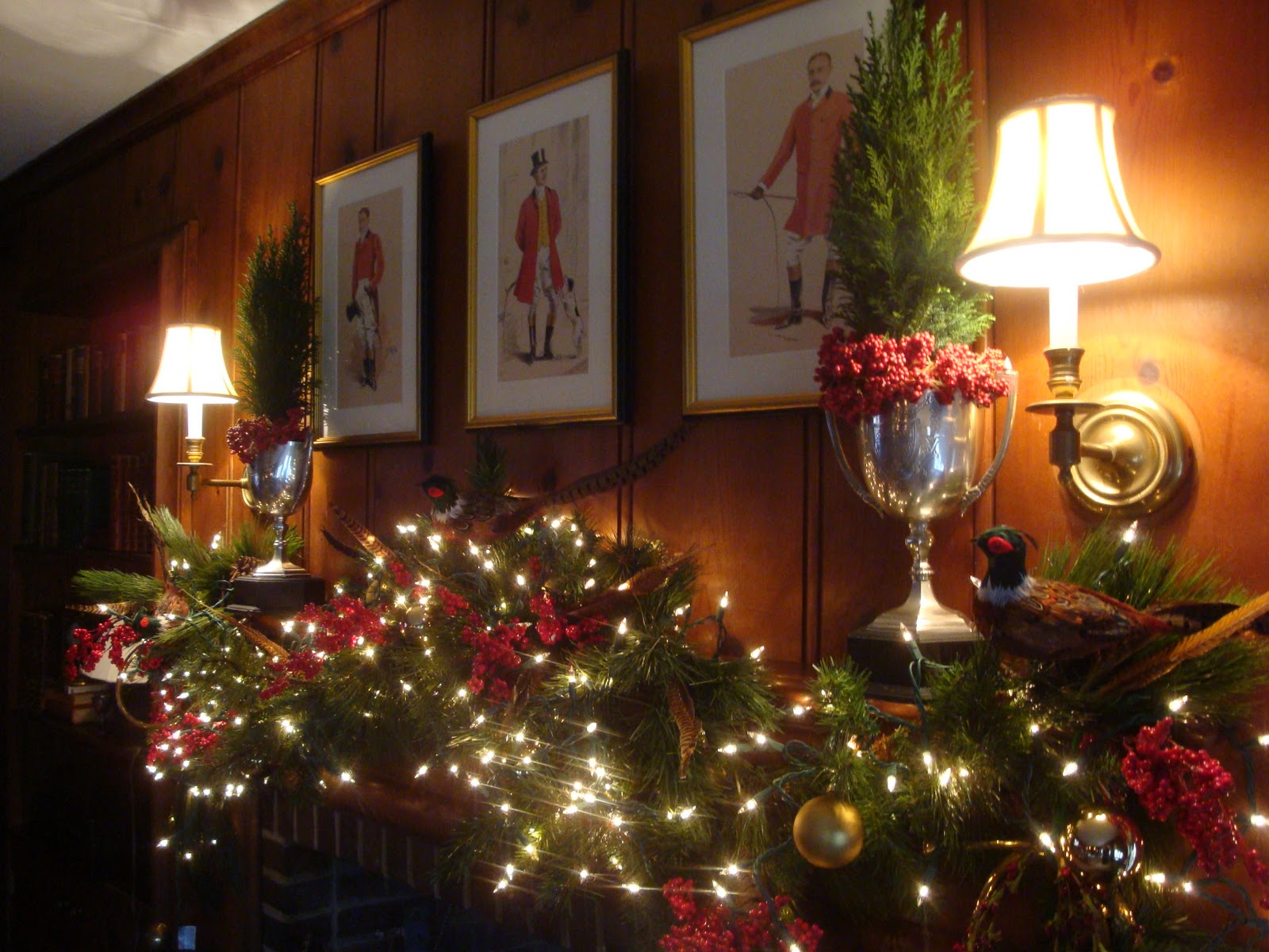 The Polohouse Holiday Mantel And Staircase