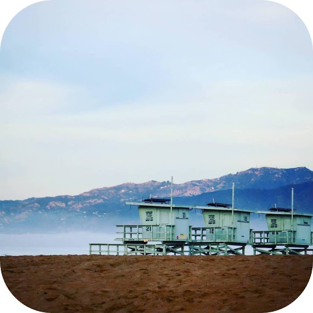 From Venice Beach to Santa Monica: lifeguard towers