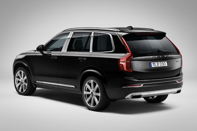 All New Volvo XC90 crossover More safe back view