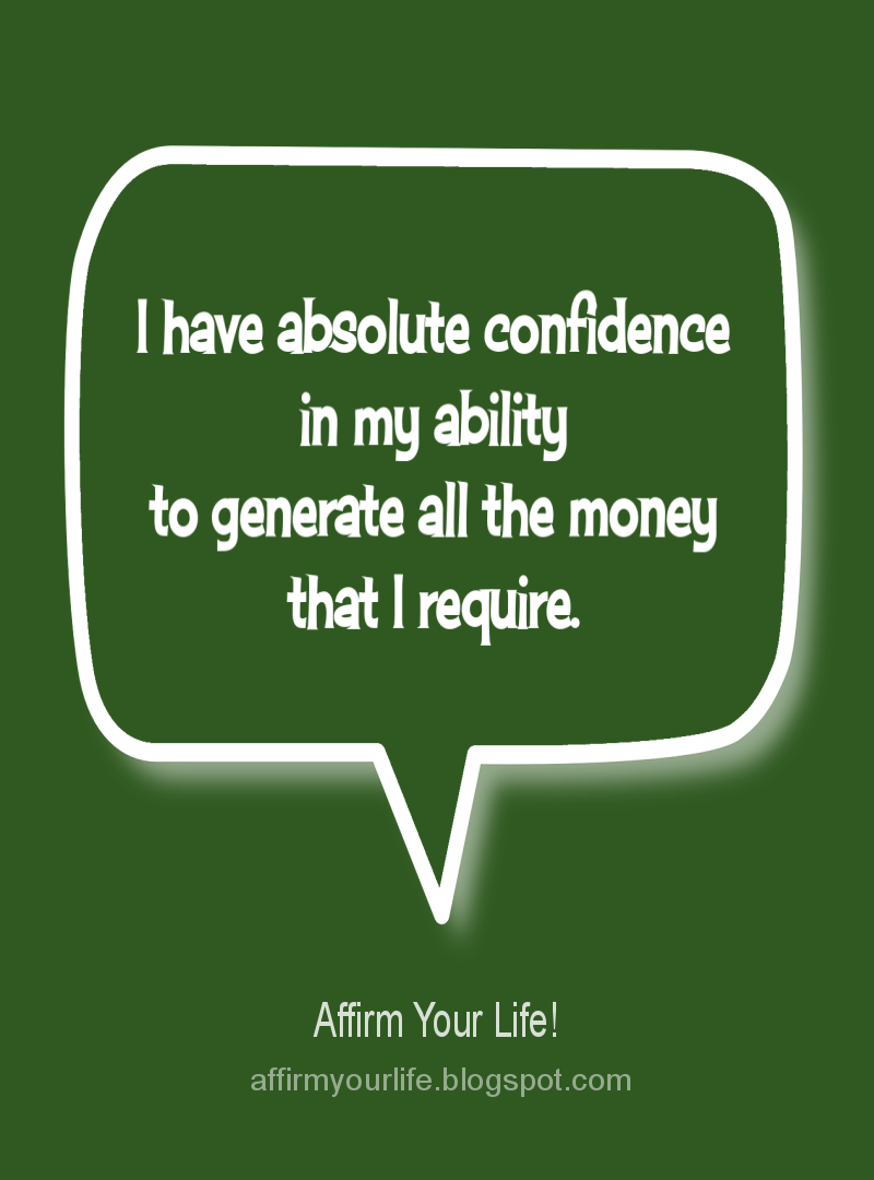 MONEY affirmation