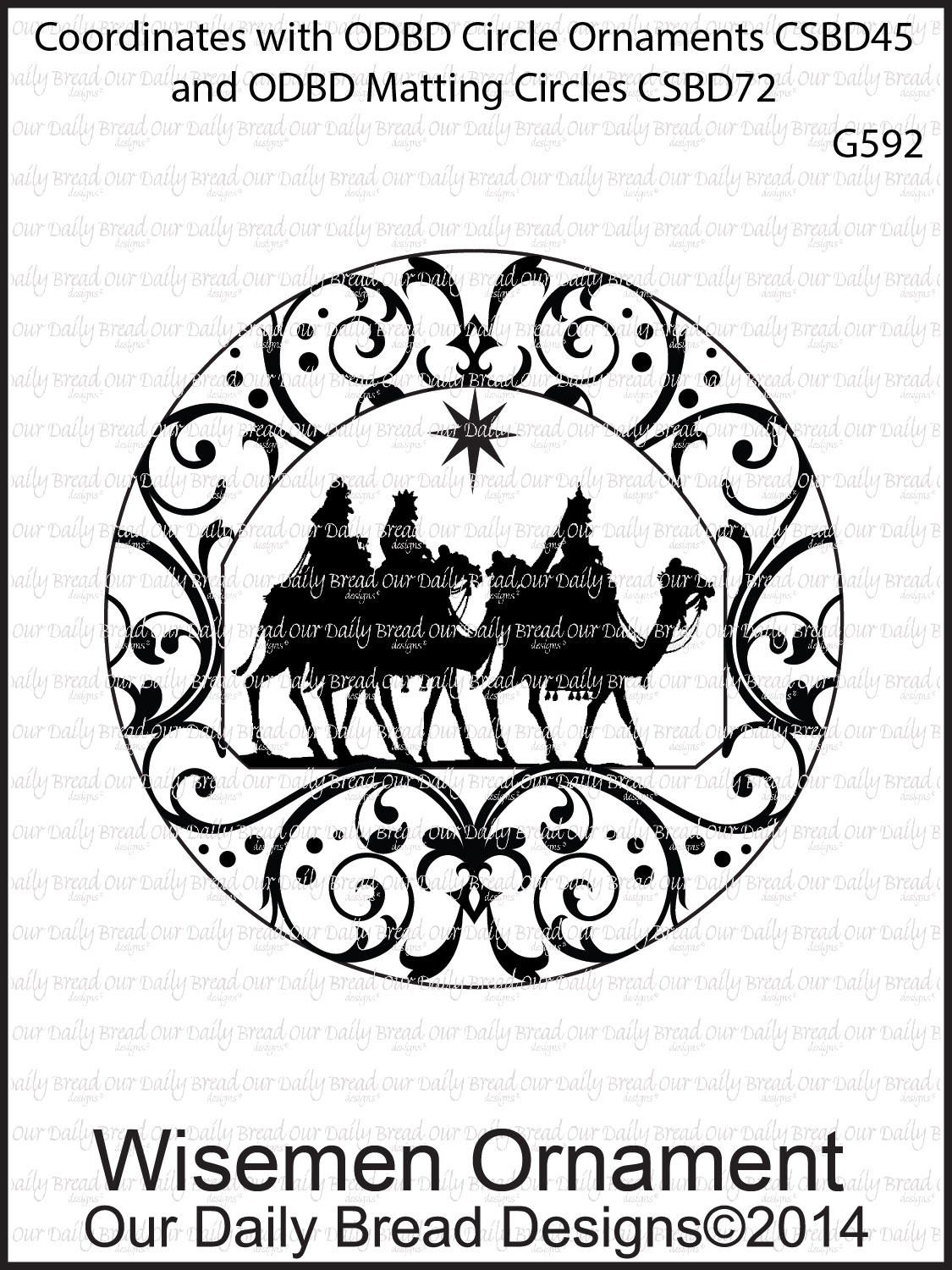 Stamps - Our Daily Bread Designs Wisemen Ornament
