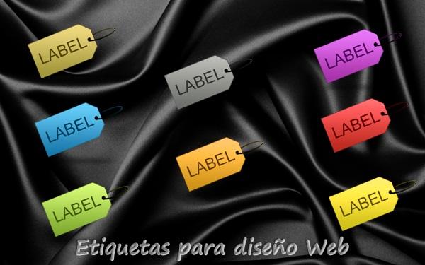 Etiquetas en PNG para diseño Web