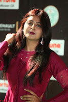 Monal Gajjar in Maroon Gown Stunning Cute Beauty at IIFA Utsavam Awards 2017 052.JPG
