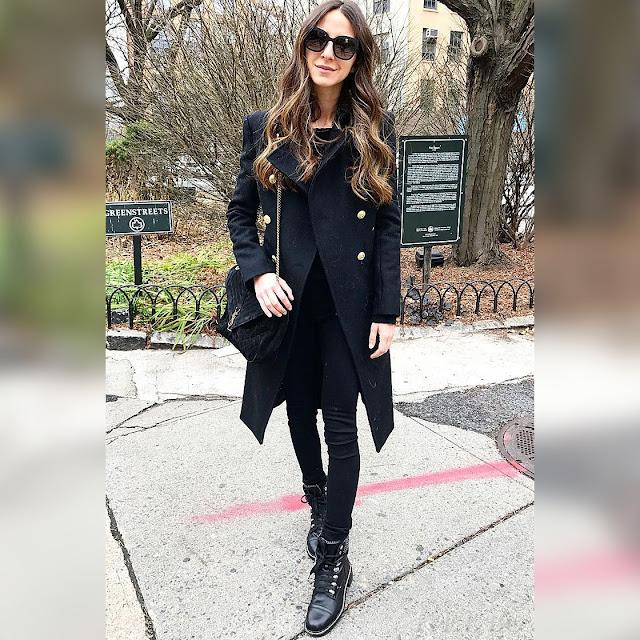 Γυναικείο μαύρο παλτό AIDA