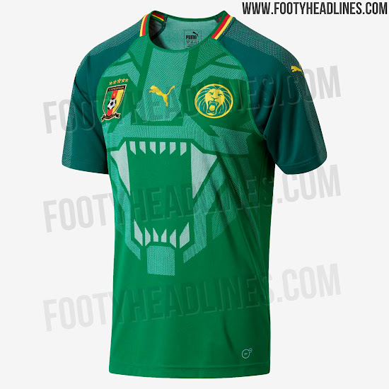 562364b95 Puma Cameroon 2018 Home Kit