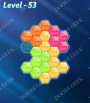 Block! Hexa Puzzle [Rainbow A] Level 53 Solution, Cheats, Walkthrough for android, iphone, ipad, ipod