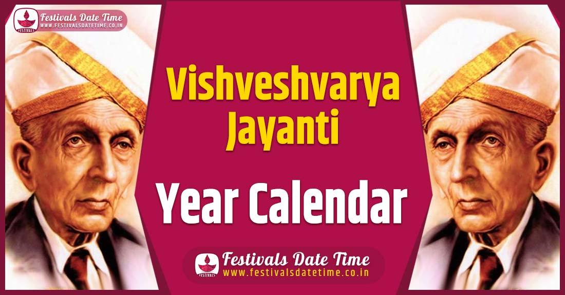 Vishveshvarya Jayanti Year Calendar
