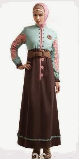 Contoh Model Baju Muslim Gamis Terbaru